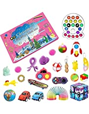 Fidget Toy Fidget Advent Calendar 2021 Christmas Countdown Calendar 24 Days Sensory Fidget Toys Set Gift Boxes for Kids Adults Stress Anxiety Relief and Anxiety Toys