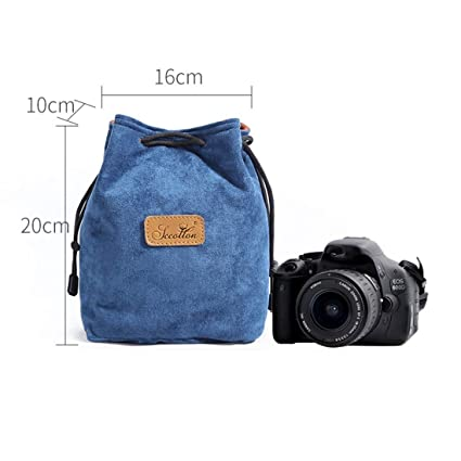 Ploekgda Camera and Lens Protective Bag Drawstring Pouch Bag