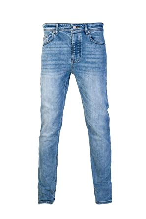 30d09bcf90ef2 Amazon.com: Hugo Boss Mens Regular Tapered Jeans Taber BC-P 50400682 ...