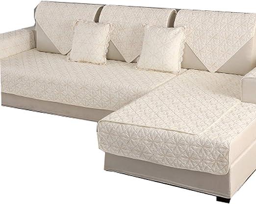DFamily En Forma de l Funda para sofá Algodón Protector de sofá ...