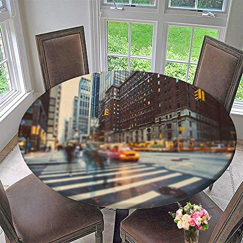 PINAFORE HOME Modern Table Cloth New York City in Motion Indoor or Outdoor Parties 59