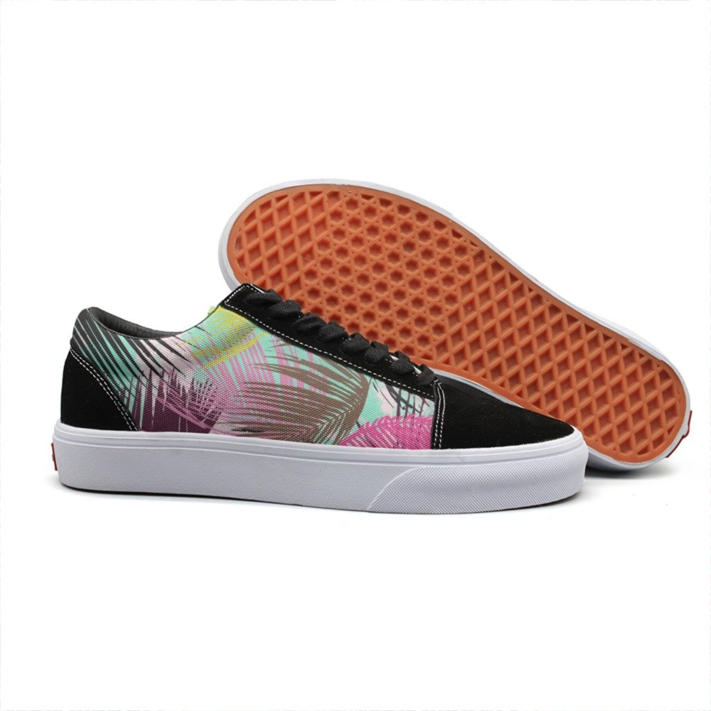 Armsttm Women Skate Shoes tropical palm leaves Classic Suede Sneaker