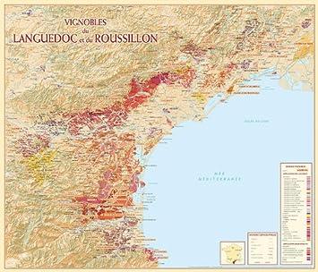 Carte Languedoc Roussillon.Carte Languedoc Roussillon Vineyard Amazon Fr Cuisine Maison