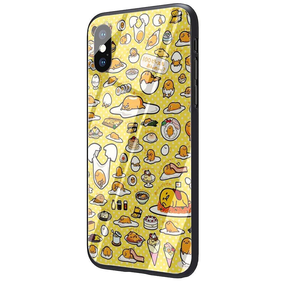 Amazon Com Lovely Gudetama Lazy Egg Tempered Glass Phone