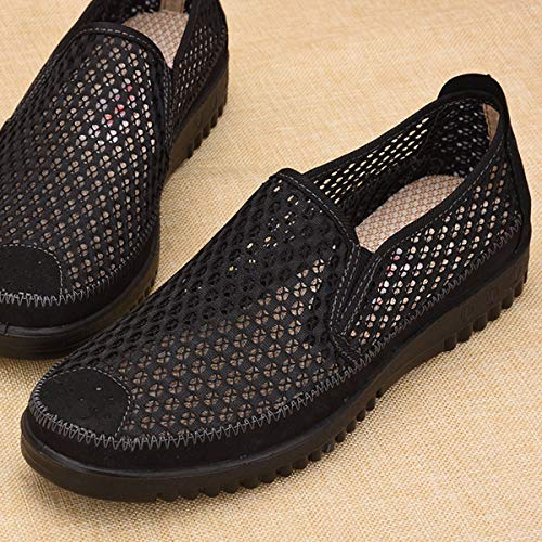 quatre Un Net Pour Chaussures Doux Femme Noir Maille Et D't Ages En Personnes Avec age Hommes Fond De Moyen Kphy Casual Lger Fort Tf1wqPP
