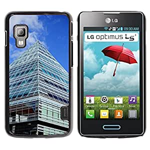 Hot Style Cell Phone PC Hard Case Cover // M00169581 City Library Building Ulm Glass // LG Optimus L5 II Dual E455 / E460