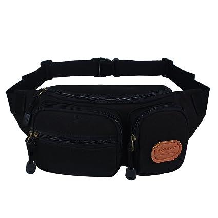 2c4295f2745 Amazon.com   Ryaco Canvas Fanny Pack, Waist Pack, Waist Bag, Bum Bag ...