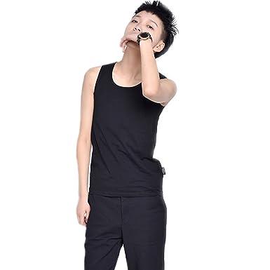 8ee48f6d7117f BaronHong Elasticity Bind Chest Binder Corset Cotton Tank Top for Tomboy  Trans Lesbian(Black