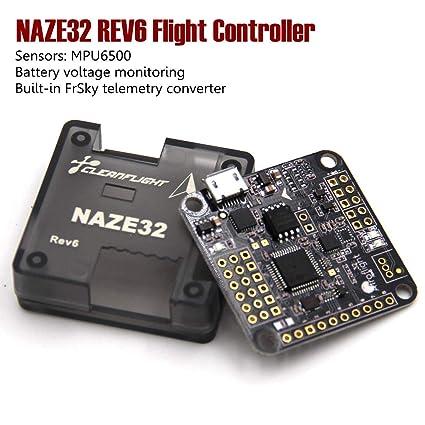 amazon com leaco naze32 rev6 naze 32 6dof flight controller board  leaco naze32 rev6 naze 32 6dof flight controller board compass for qav250 210 mini muticonpter fpv