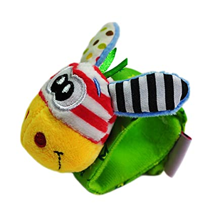 Juguetes Juegos Infantiles Peluche Pulsera Sonajero Animales Bebés - Jirafa Boca Amarilla