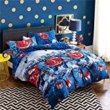 S Hotel Collection Luxury Brushed Microfiber 3D Christmas Gift Santa Claus Deer Duvet Cover Set, 3-piece Quilt Cover Set-Soft & Extremely Durable - Wrinkle, Fade & Stain Resistant
