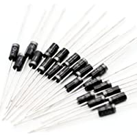Poilee 1N4004 Diode 1A 400V DO-41 Rectifier Diode Electronic Silicon Diodes (Pack of 50pcs)