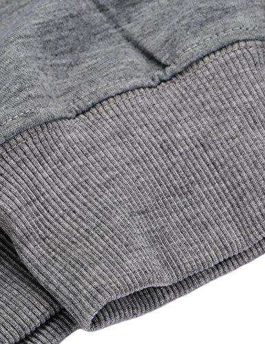 Vessos Damen Hoodies Sweatshirt Casual Pullover Tops Bluse Langarm Shirt für Herbst Winter (Grau M)