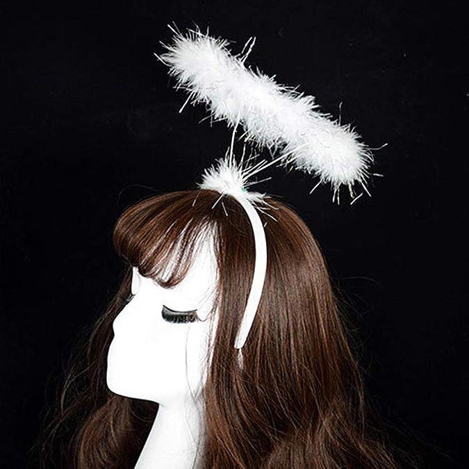 TAKOO Diadema halo de Angel Diadema con Corona de Corona Angel Fluffy Halo Angel Diadema Fiesta de Disfraces de Hadas Hairband Nuevo Fiesta de cumplea/ños Regalo Carnaval Juego de rol