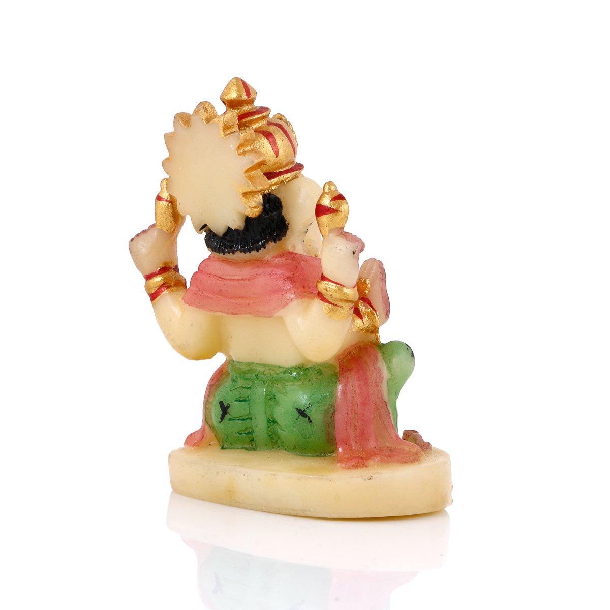 CraftVatika Lord Ganesh Statue for Car Dashboard Decor Handmade God Ganesha Idol for Car Dash Decoration Ideal Gift Sculpture