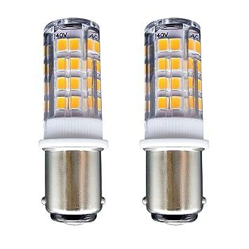 leds 400 Équivalent Led Blanc 2Sftlite 35w Ba15d Lampe Halogène Baïonnette De Led 51 Lumens lot Chaud Connect Ampoule B15 Double 4w 3000k 80PNOkZwnX