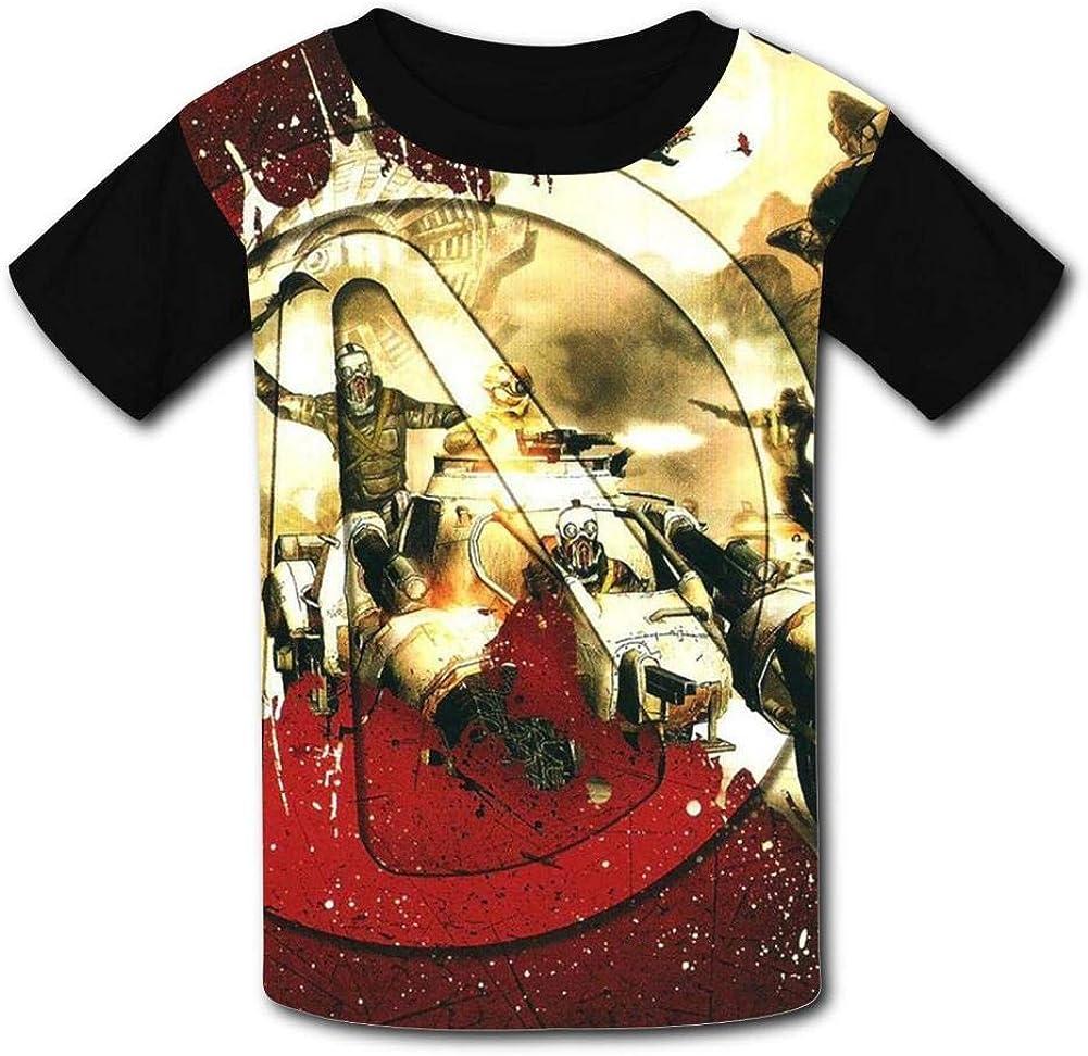 HOOPNUA Youth Borderlands T-Shirt Fashion Crew Neck Short Sleeve Tee Polo Shirt