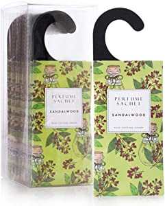 12Packs Sandalwood Closet Air Freshener Deodorizer Scented Sachets Bags for Drawer and Closet-ROSE COTTAGE
