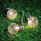 H+K+L 6M 20LED String Lights, Battery Control String Lights with Remote, Pineapple Light String Light Bulb Round Ball Light, Outdoor Garden Light (Warm White)