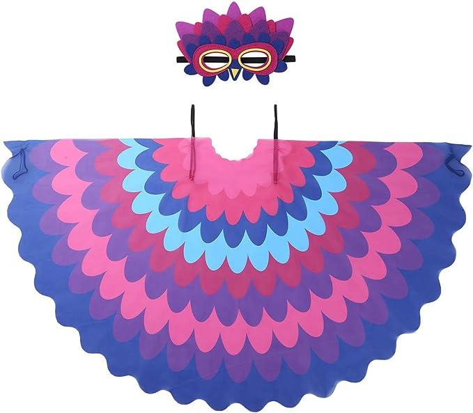 dPois Disfraz de Pájaro Bonito Loro para Niño Niña Máscara de ...