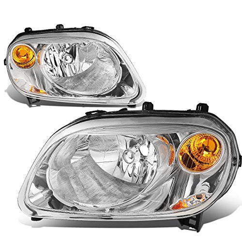 For 06-11 Chevy HHR Chrome Housing Amber Corner Headlight/Lamps - Pair
