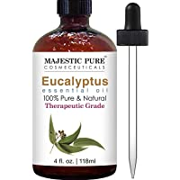 Majestic Pure Eucalyptus Essential Oil, Pure and Natural with Therapeutic Grade, Premium Quality Eucalyptus Oil, 4…