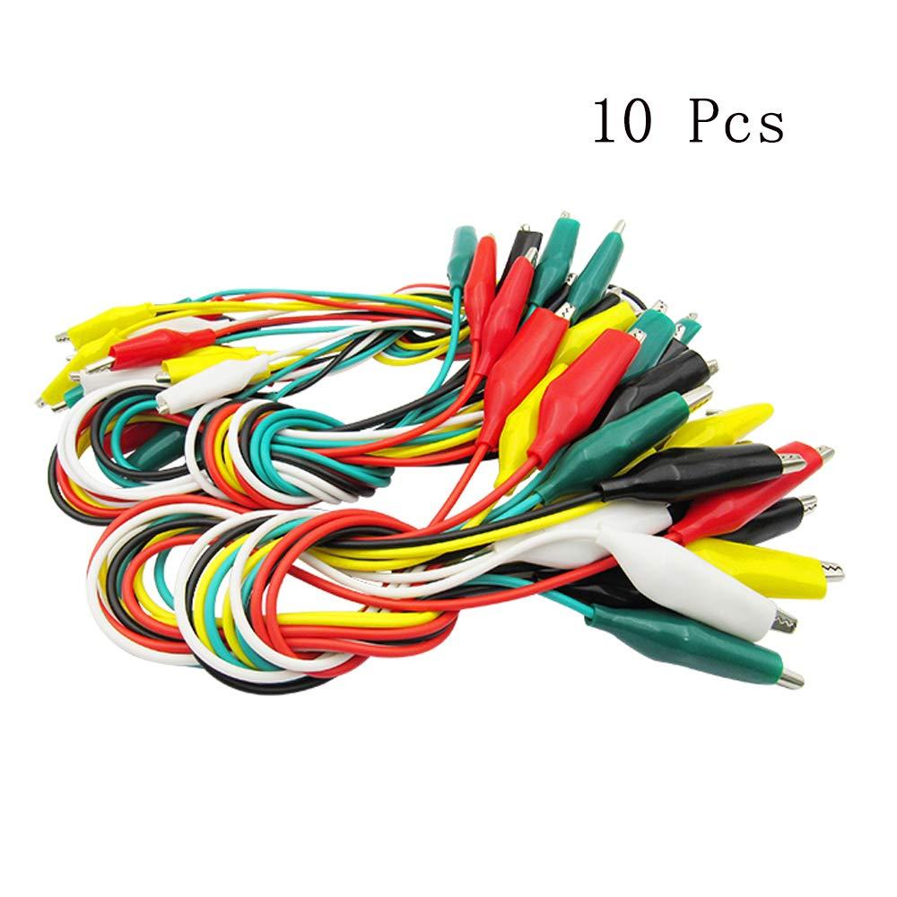 10pcs 104A0 10Pc Multicolour Crocodile Clip Test Leads NaiCasy