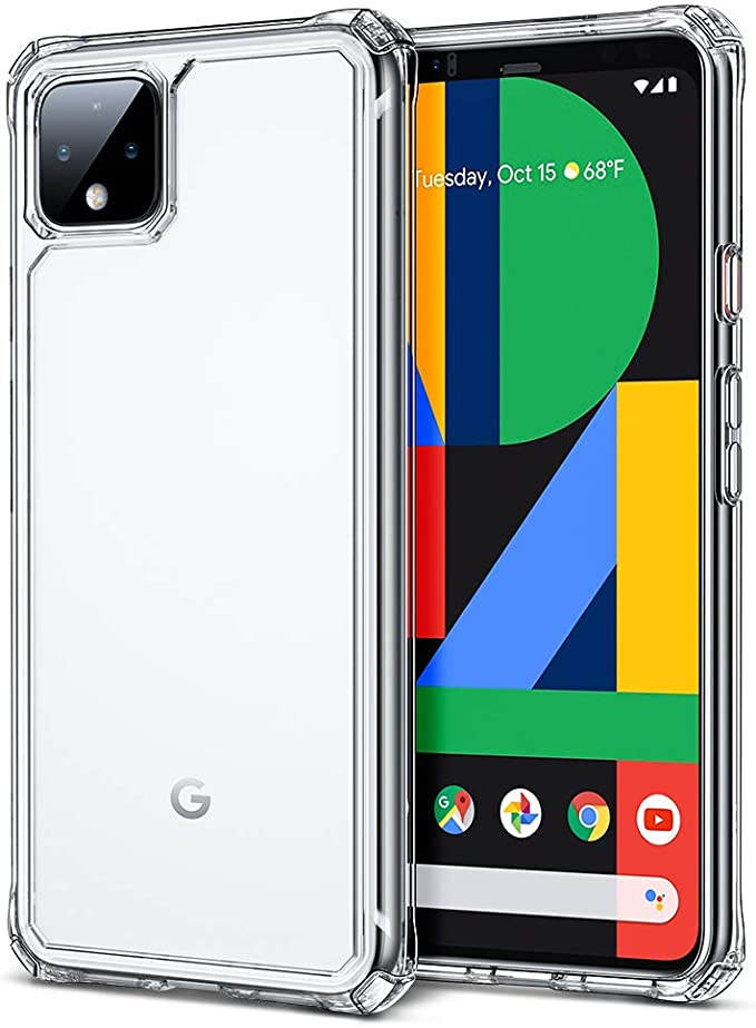 Esr Hybrid Google Pixel 4 Xl Case Scratch Resistant Clear Hard Pc Back Flexible Tpu Bumper With Shockproof Air Guard Corners For The Pixel 4 Xl Clear Amazon Co Uk Electronics