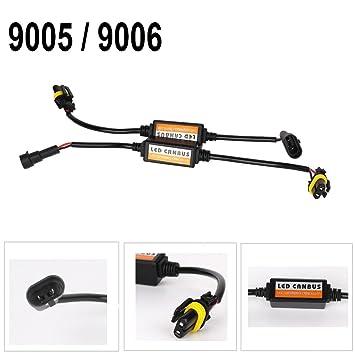 2X 9005//9006 LED Headlight Canbus Error Anti Flicker Resistor Canceller Decoder