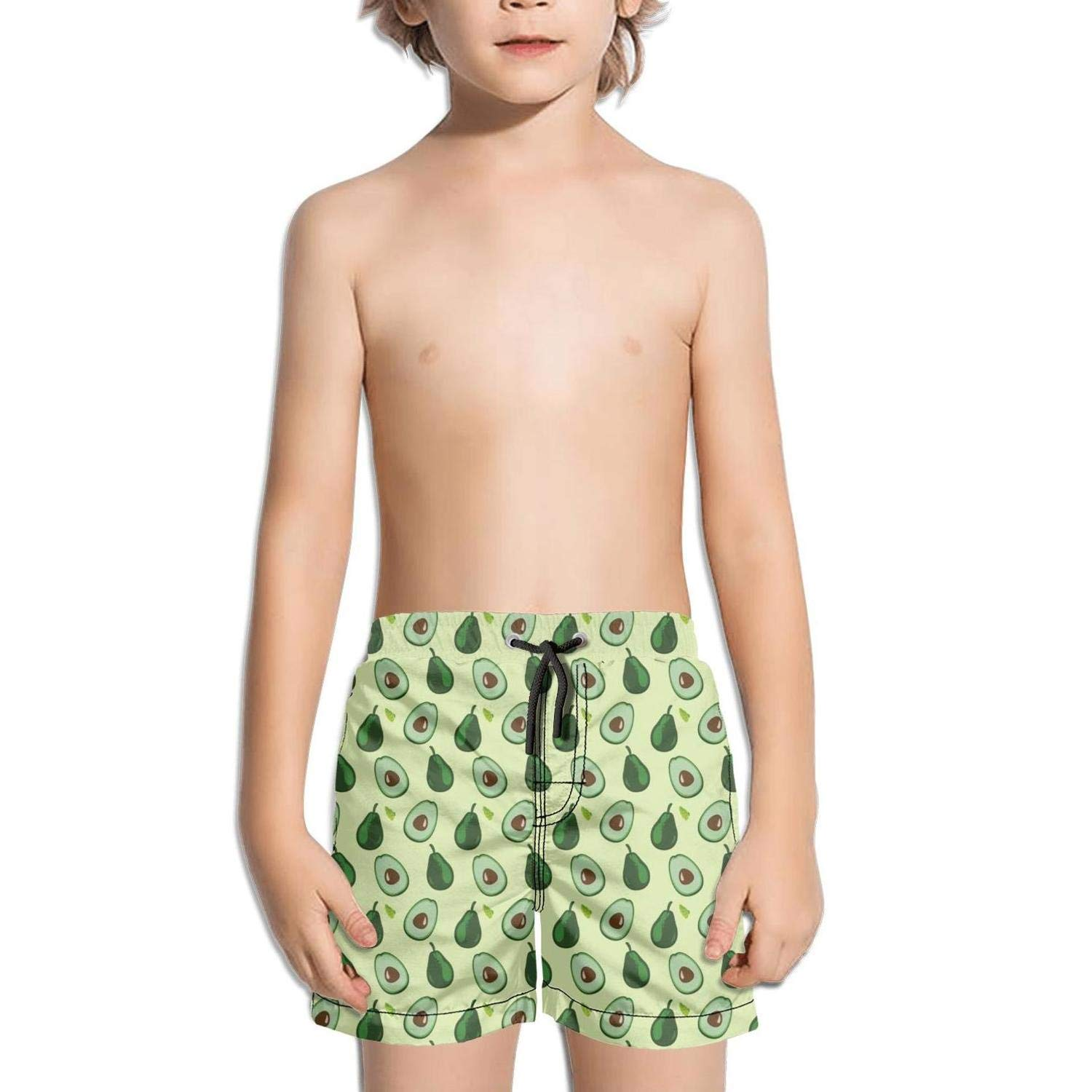 Ouxioaz Boys Swim Trunk Pineapple Cat Avocado Watermelon Beach Board Shorts