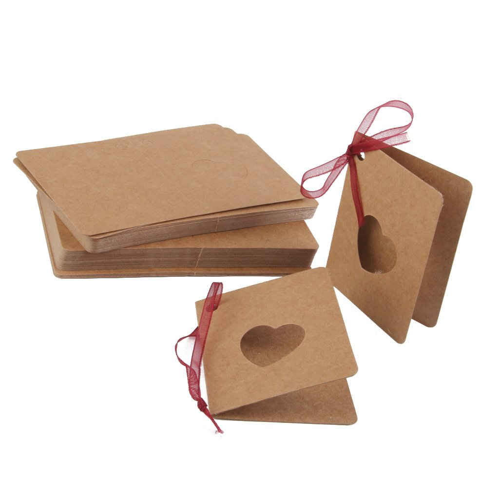 Generic kraft paper blank hollow out heart gift tags cum greeting generic kraft paper blank hollow out heart gift tags cum greeting card 50 pieces amazon toys games kristyandbryce Gallery
