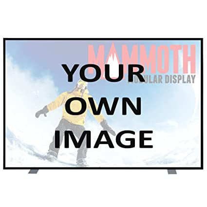 Personalized Mammoth 4 ft x 8 ft Graphic Package-fabric double-sided non-backlit Hard case included.