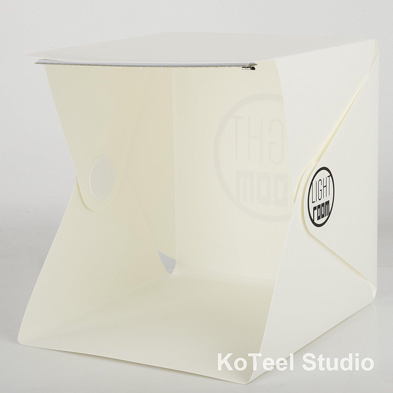 KoTeel Mini Photography Studio Light Tent LightRoom Light Box Kit with LED Light: Foldable Led Light Tent+ Two Backgrounds(Black+White)