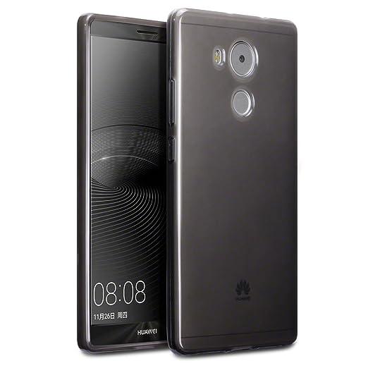 19 opinioni per Terrapin TPU Gel Custodia per Huawei Mate 8 Custodia, Colore: Trasparente Nero