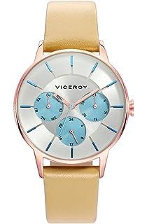 Viceroy Reloj Multiesfera para Mujer de Cuarzo con Correa en Cuero 471162-17