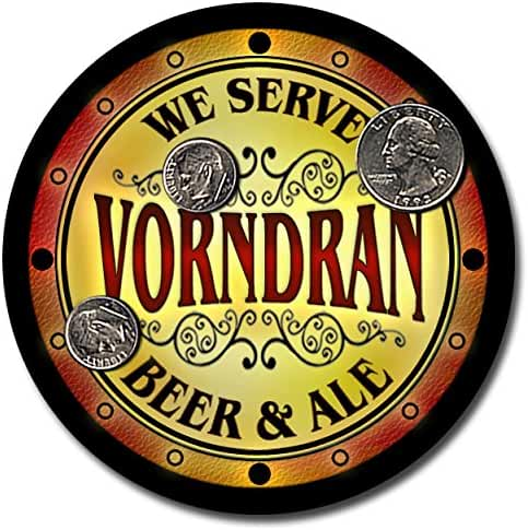 Vorndran Family Name Beer and Ale Rubber Drink Coasters - Set of 4
