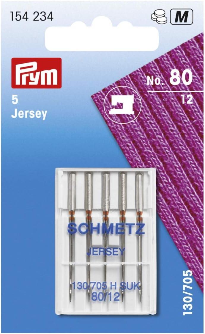 Prym 130/705 H-SUK 80 - Aguja para máquina de coser (talla única), color plateado