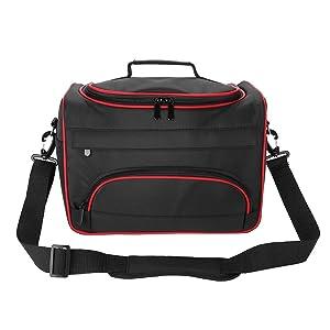Hairdressing Tool Kit, Fashion Avant-garde Large Capacity Pro Hairdressing Hair Equipment Salon Tool Carrying Bag Travel Storage Case Bag (Black)