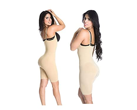 84cd54c3b9b1 Smok69 Bodysuit Shapers Butt Lifter Thigh Slimmer Tommy Hip Leg Control  Straps Covered Back 3 in 1 Bodyshaper at Amazon Women's Clothing store: