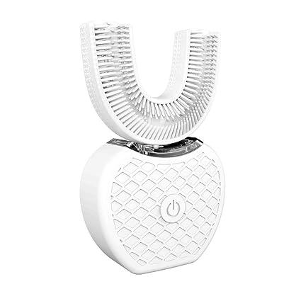 Cepillo de Dientes Eléctrico V-White Cold Light Automático Manos Libres Whitening 360 ° Cepillo de Dientes Ultrasónico (Blanco)