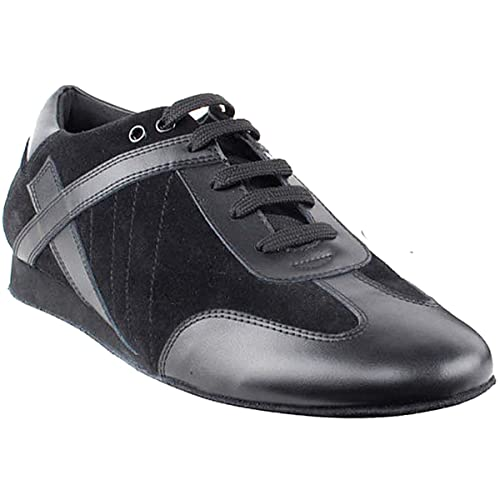 Men's Swing Dance Clothing, Vintage Dance Clothes Mens Ballroom Latin Salsa Sneaker Dance Shoes Leather SERO106BBXEB Comfortable - Very Fine (Bundle of 5) $79.99 AT vintagedancer.com