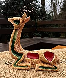 Reindeer in clay and glass