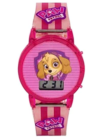 Patrulla Canina Skye Niñas luces intermitentes LCD reloj: Amazon.es: Relojes