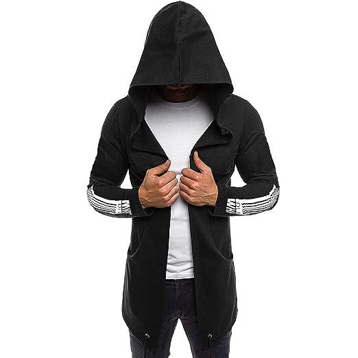 e2fbc2e2d4de PASATO Men Splicing Hooded Solid Trench Coat Jacket Cardigan Long Sleeve  Outwear Blouse New Hot!