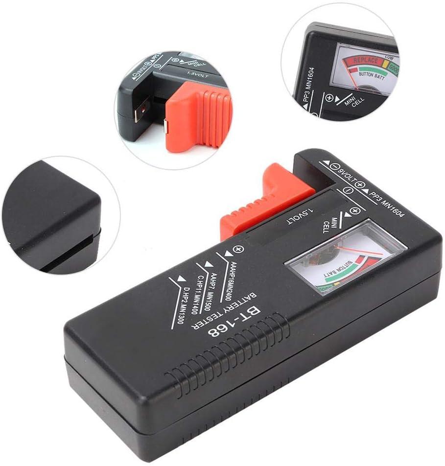 Testeur de Batterie BT-168 AAA C D 9V 1.5V V/érificateur de Batterie pour Piles