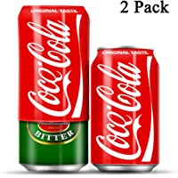 AMZcool 2 Packs of Beer Can Cover That Look Like Soda- Hide a Beer, Silicone Beer Sleeves for Cans Beer Lover Gifts for Men Women Outdoors Events, Sporting Events, Beach, Travel (375ml)