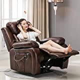 Nfudishpu European First-class Space Capsule USB Multi-function Sofa Single Electric 8 Vibration Heating Massage Recliner Theater Reclining Swing Sofa