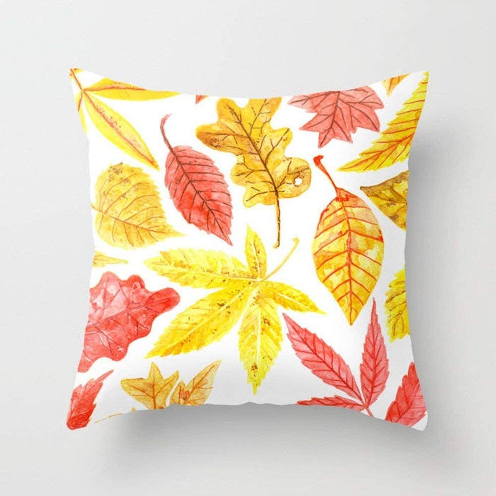 Color : 1 Yellow Pineapple, Size : Size Martinad Ananas Gelb Mit Auto Sofa Casual Chic Taille Werfen Kissen Abdeckung Haus Dekor Polyester 1 Yellow Pineapple 45 X 45 cm