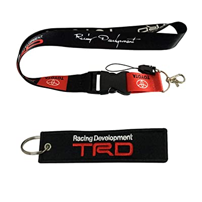 Cview Premium Quality Lanyard & Key Chain Tag for Car,Truck, SUV, Motorcycle, Motorsport, Scooter, ATV, UTV, RV, House Keys, Office ID, Fashion Accessories, Gifts Work with (TRD): Automotive