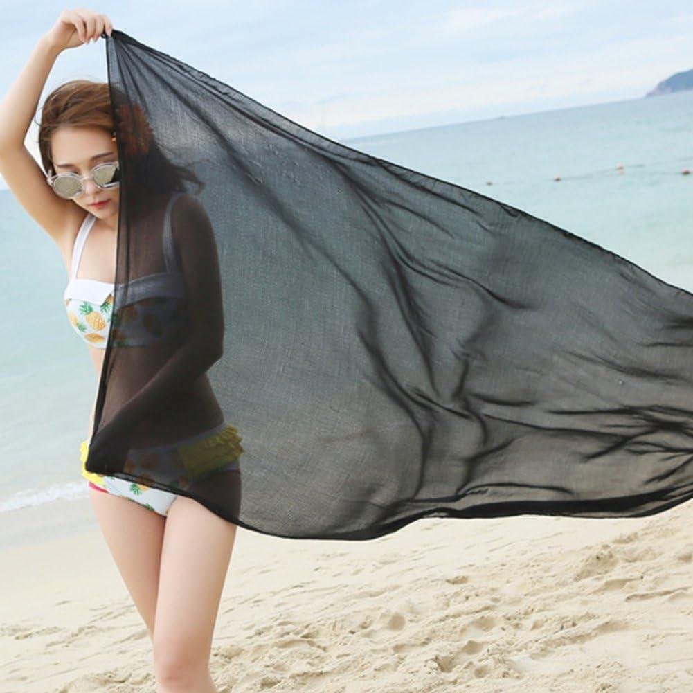 Regalo Sciarpa Moda Avvolgente da Spiaggia Morbida Estate Viola collectsound Scialle Lungo in Chiffon da Donna Tinta Unita